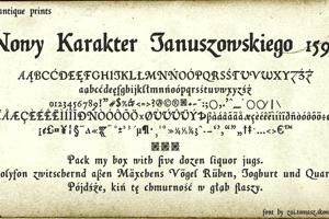 Nowy Karakter Januszowskiego 1594