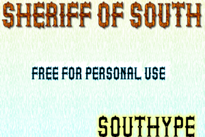Sheriff of South St