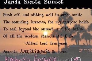 Janda Siesta Sunset