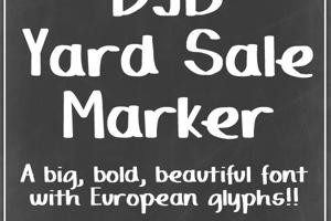 DJB Yard Sale Marker