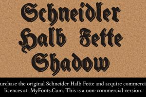 Schneidler Halb Fette Shadow