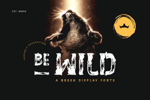 BE - WILD Brush Font