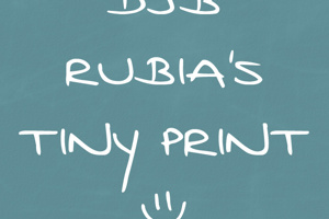 DJB Rubia's Tiny Print
