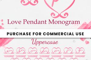 Love Pendant Monogram