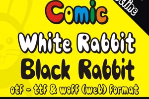 Comic Black Rabbit