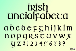 Irish Uncialfabeta