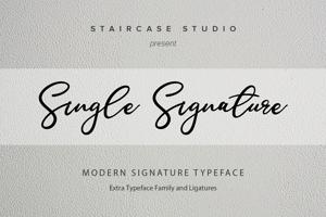 Single Signature