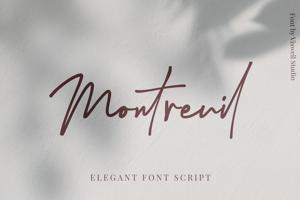 Montreuil Signature Font