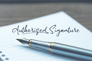 a Authorized Signature