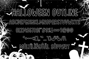 halloween outline