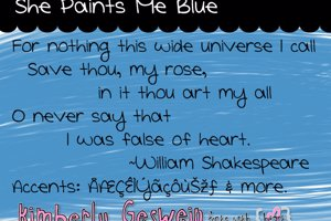 She Paints Me Blue