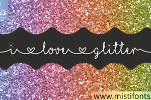 Mf I Love Glitter