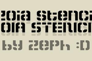 Zoia Stencil