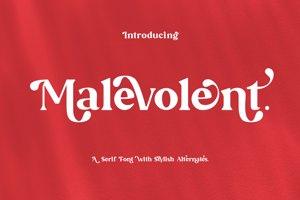 Malevolent - Serif Font