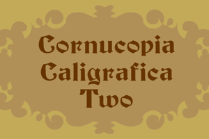 Cornucopia Caligrafica Two