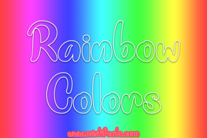 Rainbow Colors