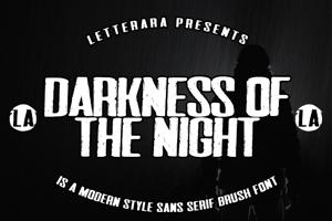 Darkness of the night