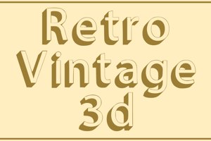 Retro Vintage 3d