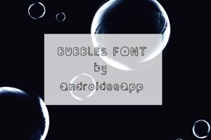 Bubblesfont