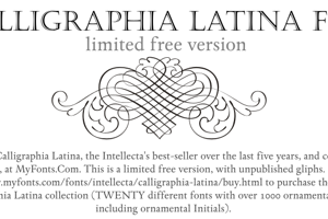 Calligraphia Latina Free