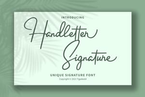 Handletter Signature