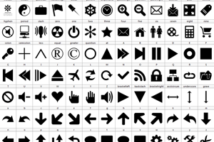 Font 90 Icons