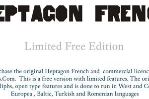 HeptagonFrench Limited Free Edi