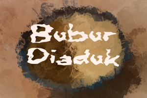 b Bubur Diaduk