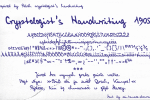 Cryptologist's Handwriting
