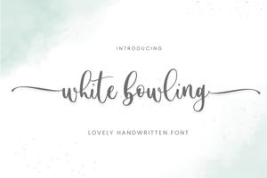 White Bowling