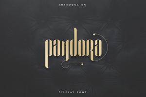 PANDORA DISPLAY FONT