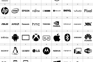 Font Logos Technology
