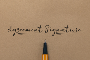 a Agreement Signature