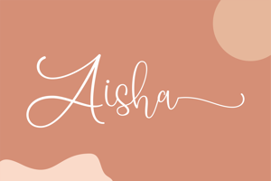 Aisha - a lovely script font