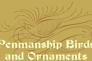 Penmanship Birds and Ornaments