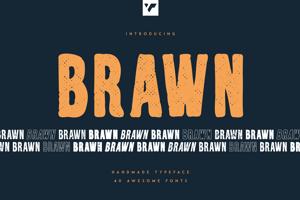 Brawn - Handmade typeface - 40 fonts