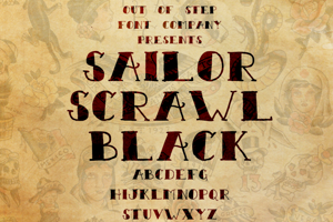 Sailor Scrawl Black