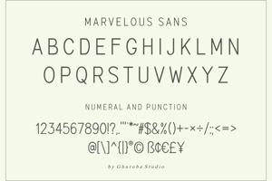 Marvelous Sans