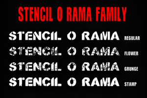 CF Stencil O Rama Stamp