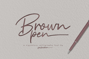 Brown Pen