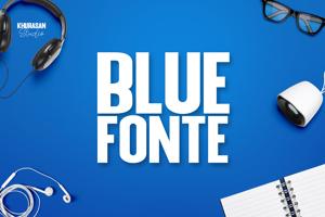 Blue Fonte Sans