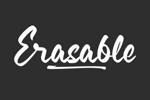 Erasable