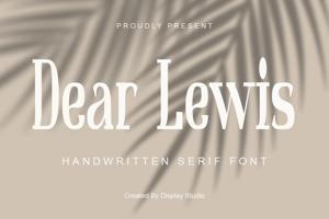 Dear Lewis