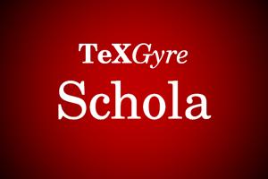 TeXGyreSchola