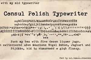 Consul Polish Typewriter
