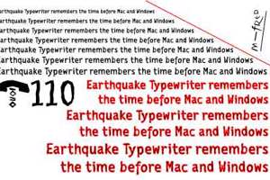 EarthquakeTypewriter
