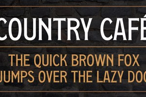Country Cafe Caps
