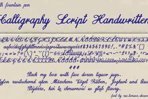 Calligraphy Script Handwritten