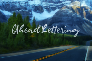 a Ahead Lettering