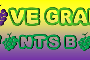 Fonts Bomb I love grapes